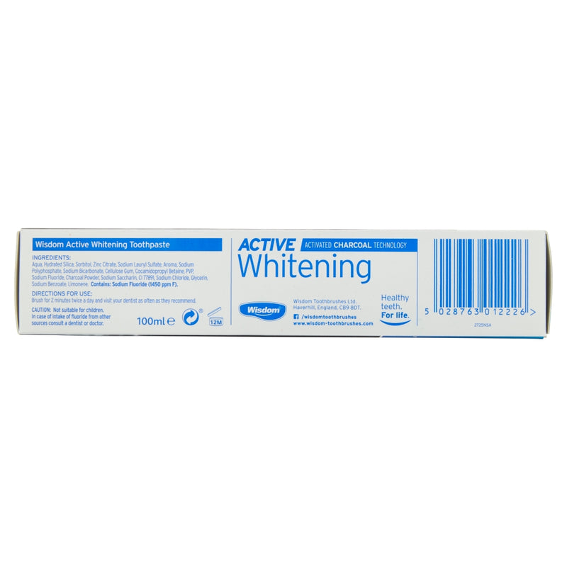 Active Whitening Fluoride Toothpaste Fresh Mint