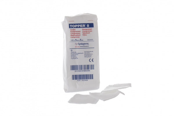 JOHNSON & JOHNSON Topper 8 Gauze Swabs- Non-Sterile
