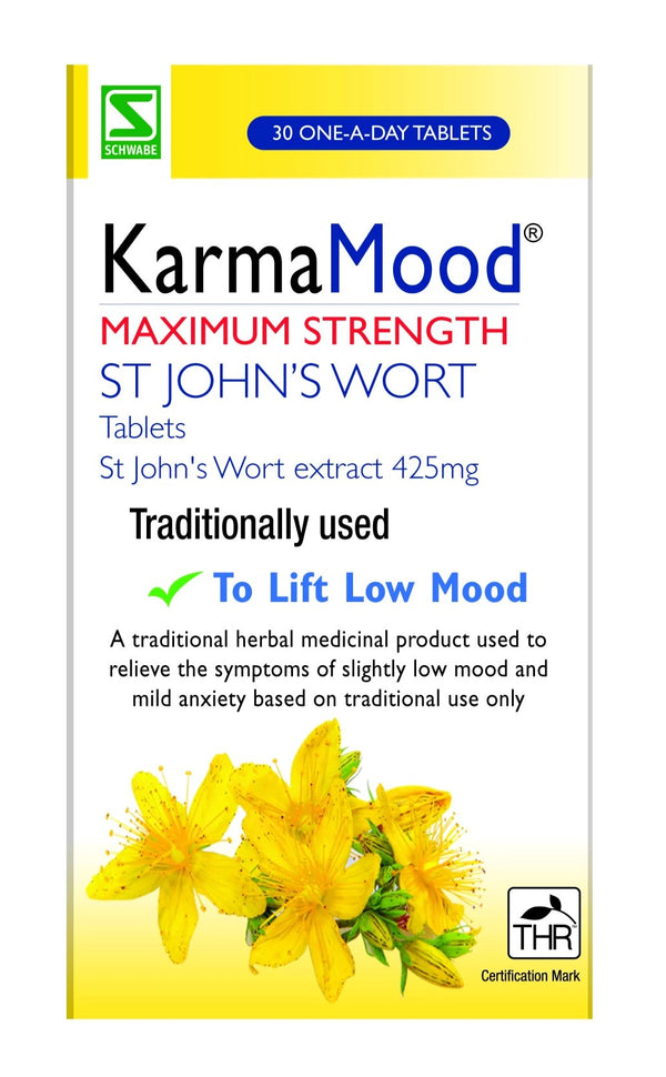 KARMAMOOD Maximum Strength St John`s Wort Extract 425mg