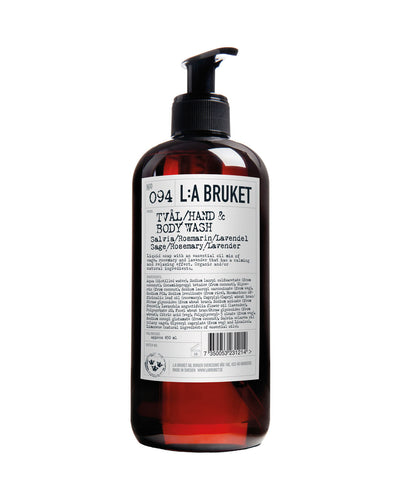 L:A BRUKET Hand & Body Wash Sage / Rosemary / Lavender