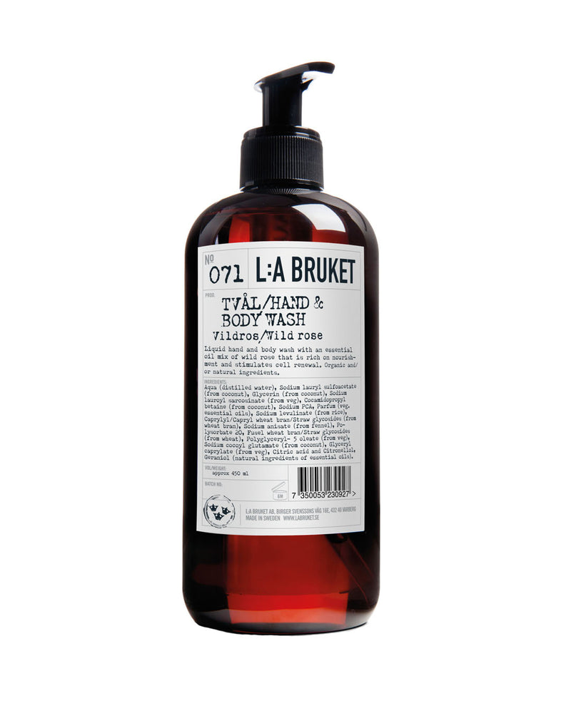 L:A BRUKET Hand & Body Wash Wild Rose