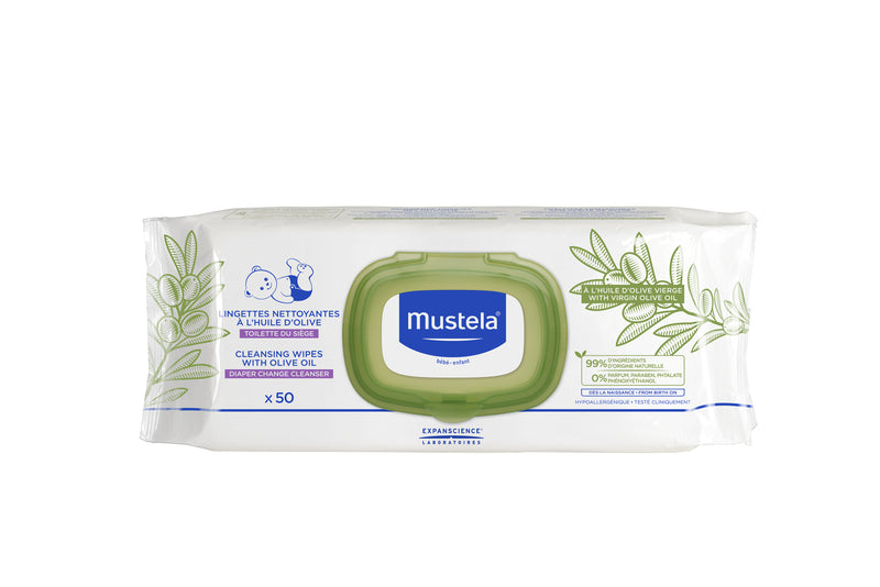 MUSTELA Cleansing Wipes With Olive Oil For Nappy Change