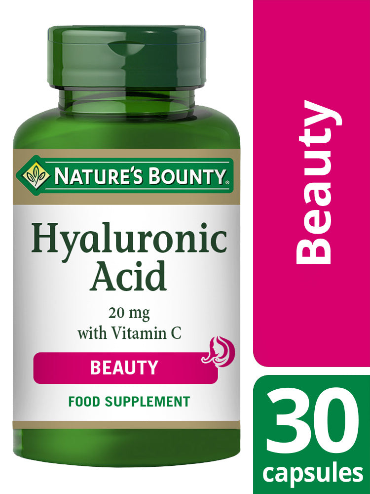 NATURE'S BOUNTY Hyaluronic Acid 20 mg with Vitamin C Capsules