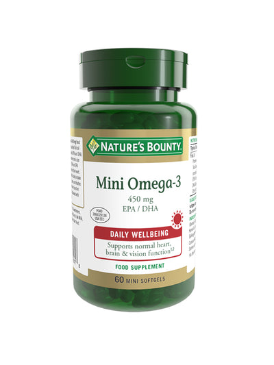 NATURE'S BOUNTY Mini Omega-3 450 mg EPA / DHA Mini Softgels