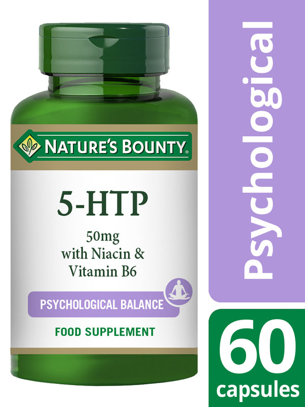NATURE'S BOUNTY 5-HTP 50 mg with Niacin and Vitamin B6 Capsules
