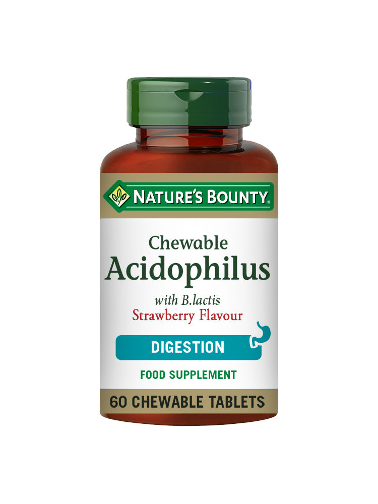 Chewable Acidophilus with B. lactis Strawberry Flavour Tablets