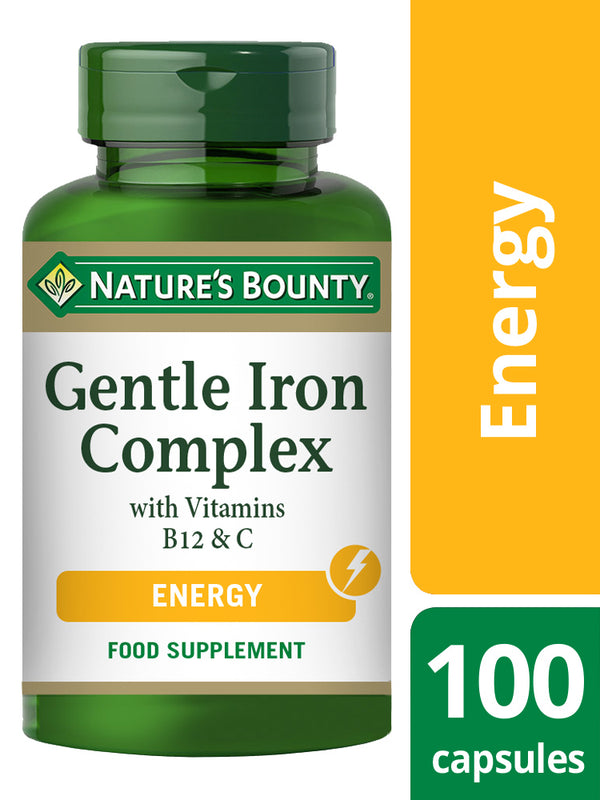 NATURE'S BOUNTY Gentle Iron Complex with Vitamins B12 and C