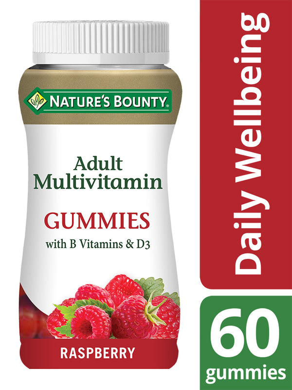 NATURE'S BOUNTY Adult Multivitamin Gummies with B vitamins and D3