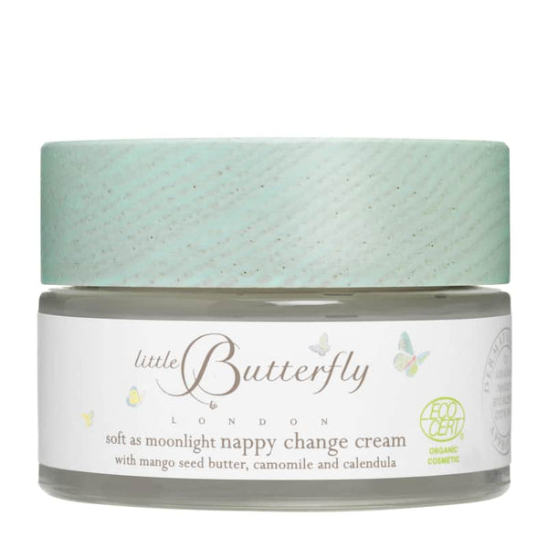 LITTLE BUTTERFLY LONDON Soft as Moonlight Nappy Change Cream