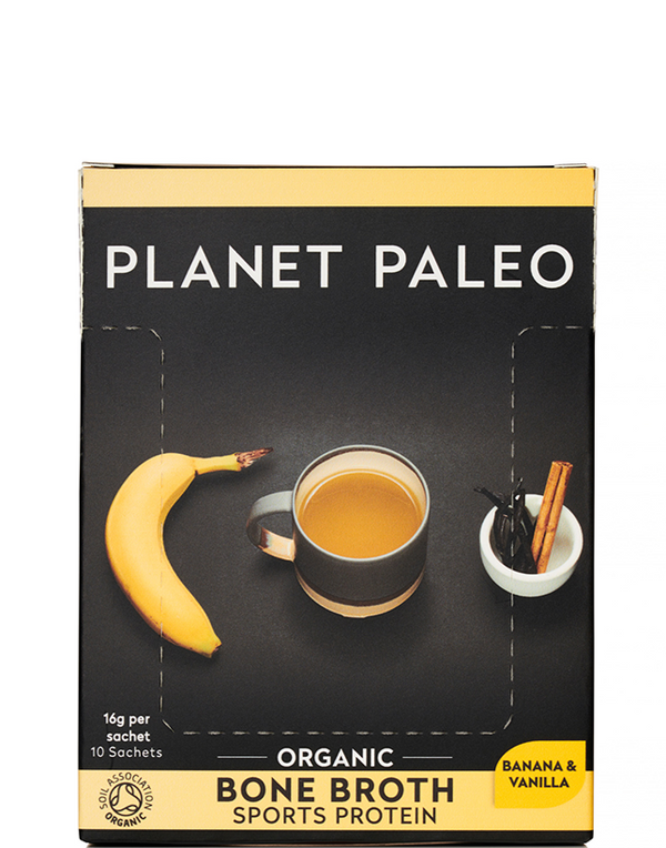 PLANET PALEO Organic Bone Broth Sports Protein Vanilla & Banana