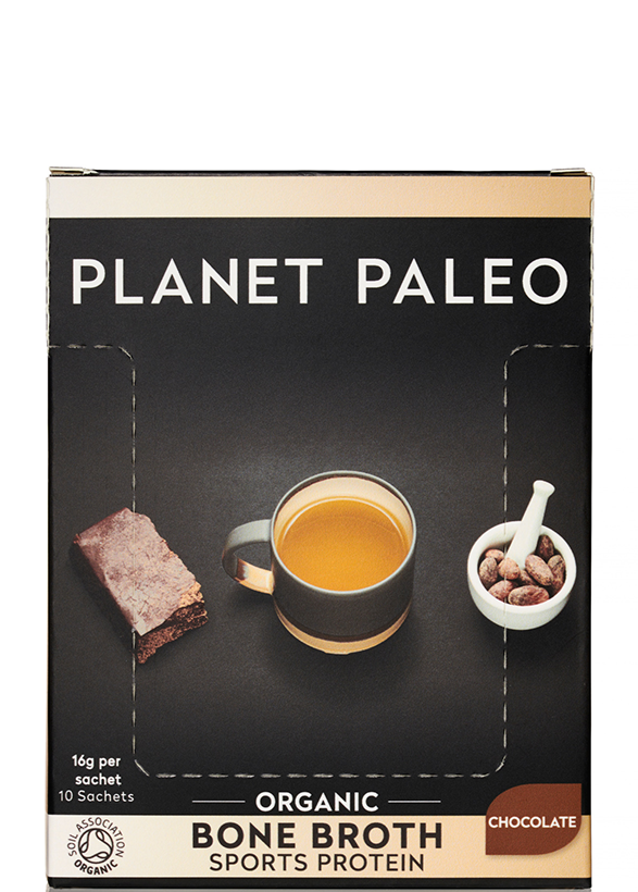 PLANET PALEO Organic Bone Broth Sports Protein Chocolate