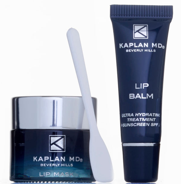 KAPLAN MD SKINCARE Perfect Pout Duo - Mini Lip Mask + Lip Balm Set In Crystal Clear
