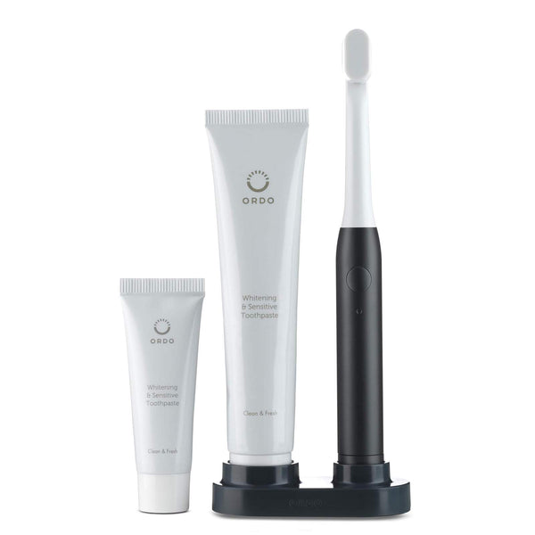 ORDO Charcoal Grey Travel Toothbrush Set