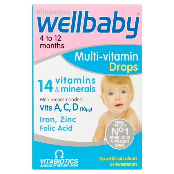 VITABIOTICS Wellbaby Multi-Vitamin Drops 4 to 12 Months