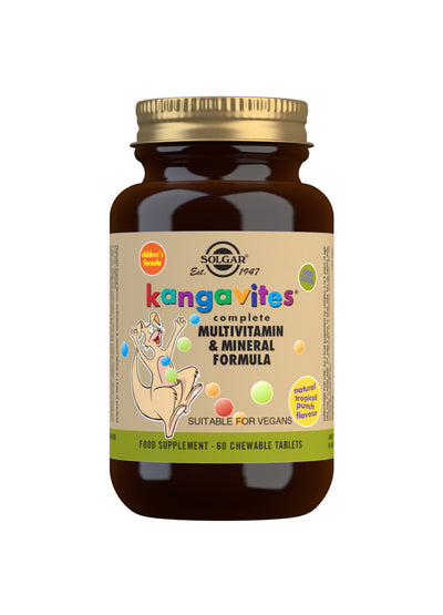 SOLGAR Kangavites Tropical Punch Complete Multivitamin and Mineral Formula