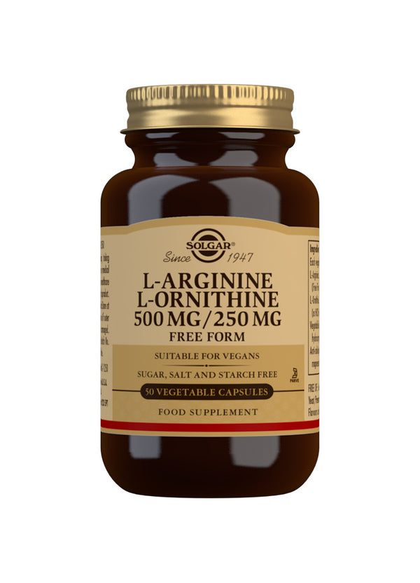 SOLGAR L-Arginine 500 mg / L-Ornithine 250 mg