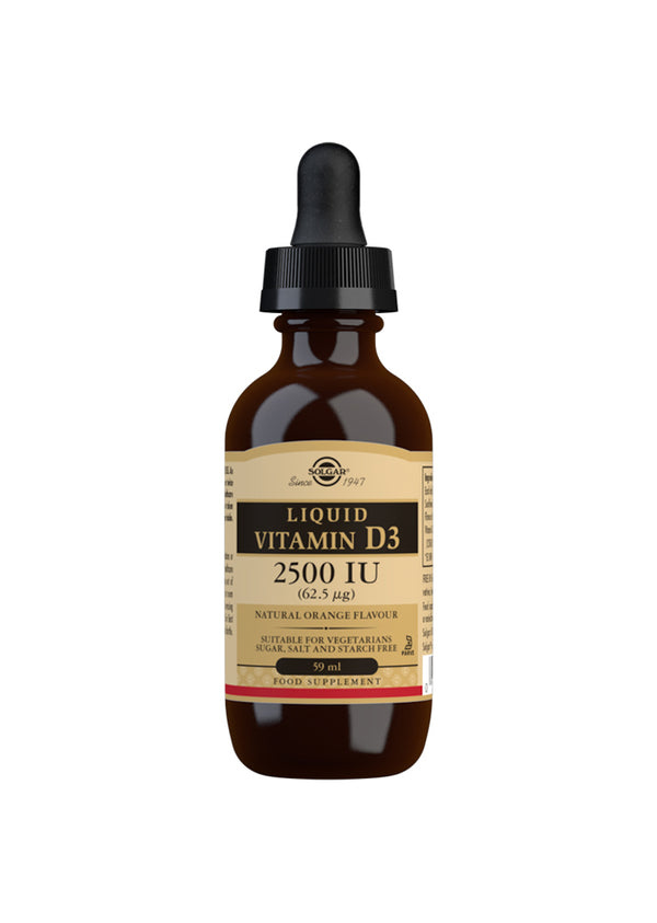 SOLGAR Liquid Vitamin D3 2500 IU (62.5 µg) - Natural Orange Flavour
