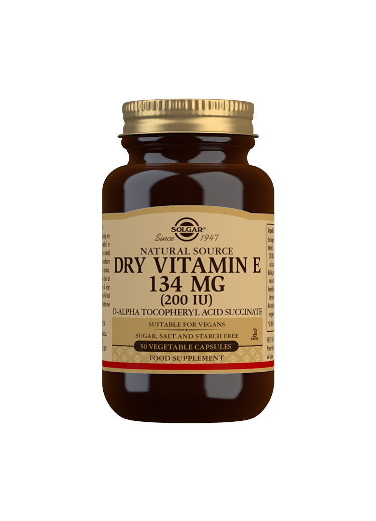 SOLGAR Natural Source Dry Vitamin E 134 mg (200 IU)