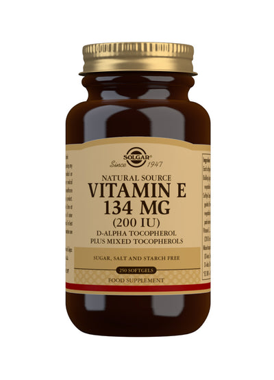 SOLGAR Natural Source Vitamin E 134 mg (200 IU)
