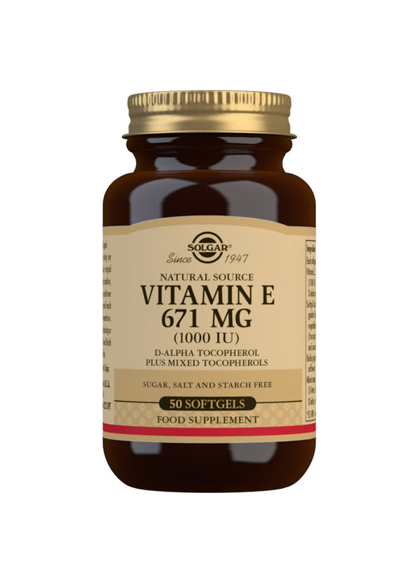 SOLGAR Natural Source Vitamin E 671 mg (1000 IU)