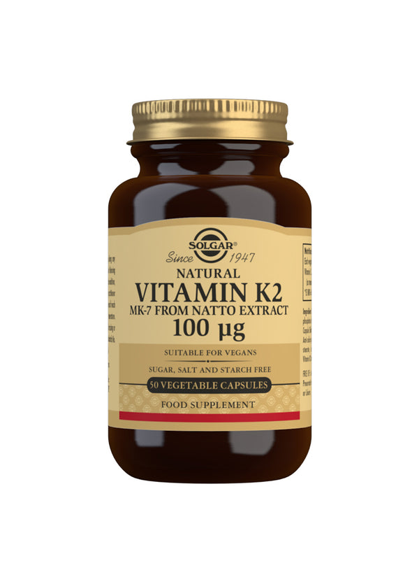 SOLGAR Natural Vitamin K2 (MK-7) 100 µg