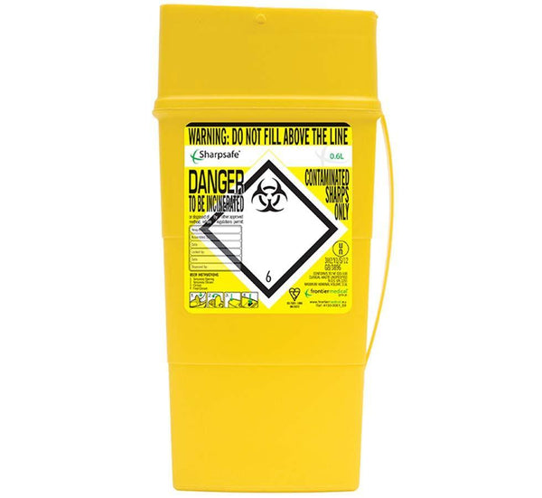SHARPSAFE Sharps Disposal Container