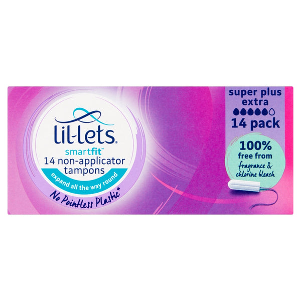 LIL-LETS Smartfit 14 Non-Applicator Tampons Super Plus Extra
