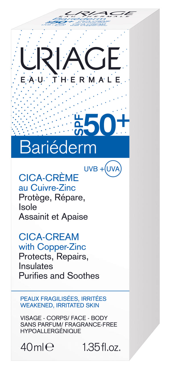 URIAGE Bariéderm Cica-Cream With Copper-Zinc SPF50+