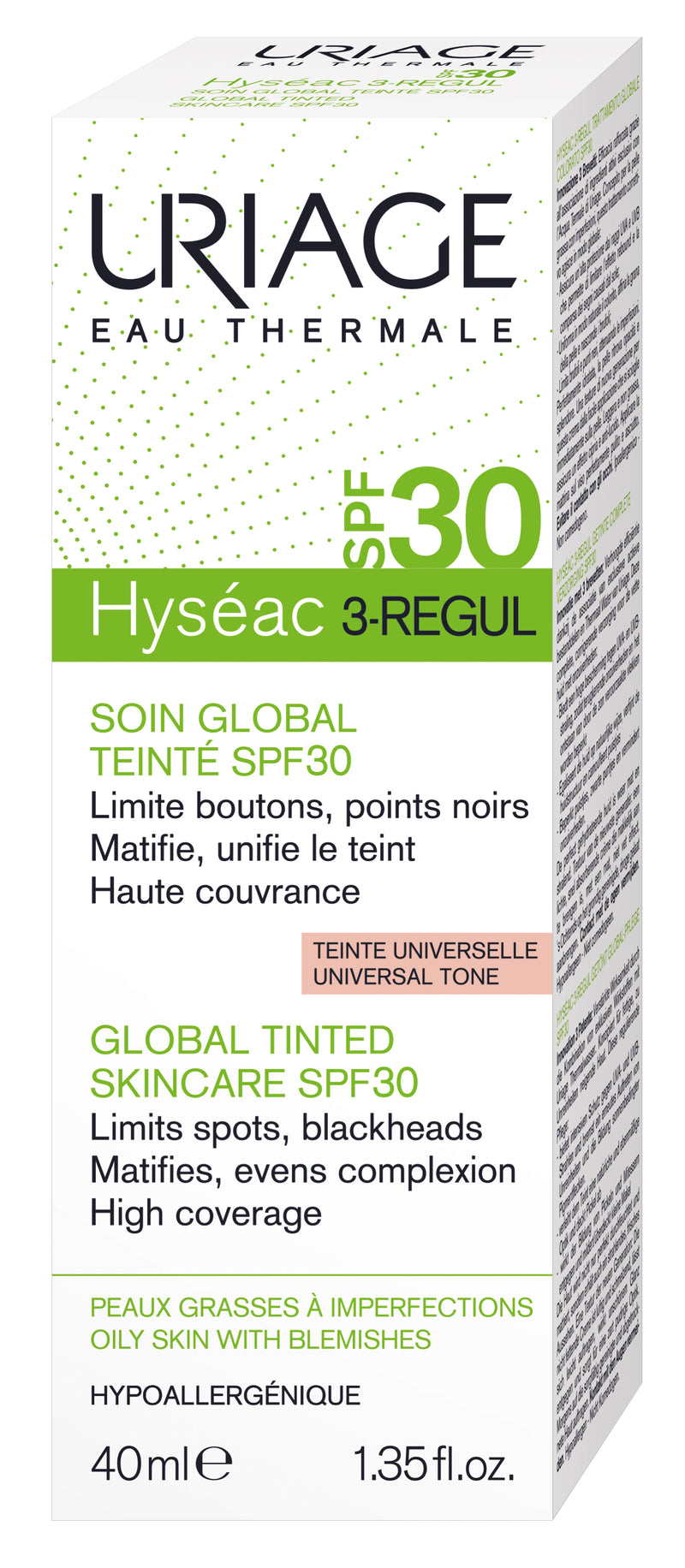 URIAGE Hyseac 3-Regul Global Tinted SPF30