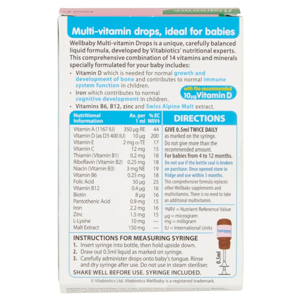 Wellbaby Multi-Vitamin Drops 4 to 12 Months