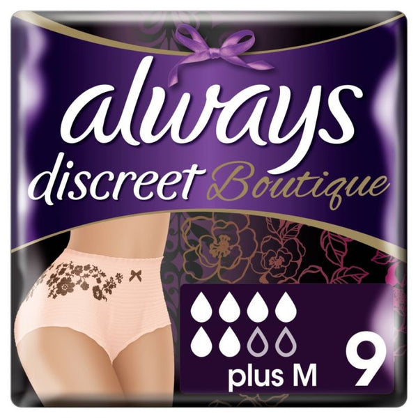ALWAYS DISCREET Boutique Underwear Incontinence Pants Plus Peach
