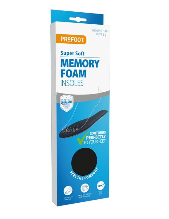 PROFOOT Super Soft Memory Foam Insoles