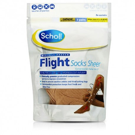 SCHOLL Flight Socks Sheer