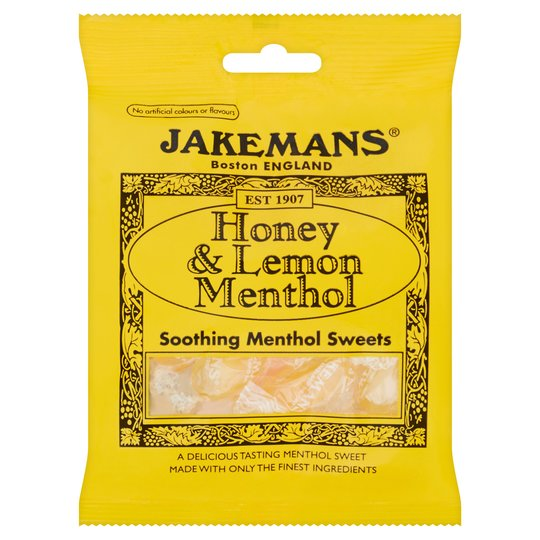JAKEMANS Honey and Lemon Soothing Menthol Sweets