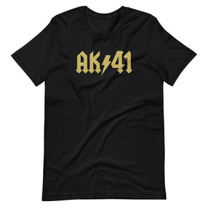 AK 41 black and gold shirts
