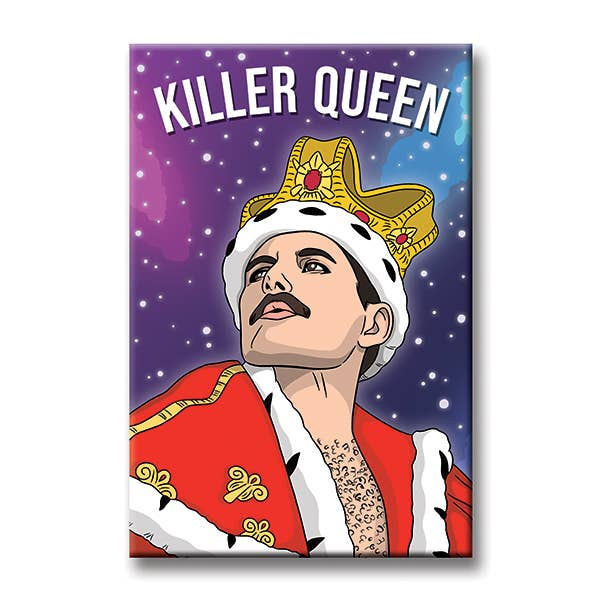 Freddie Mercury illustrated magnet