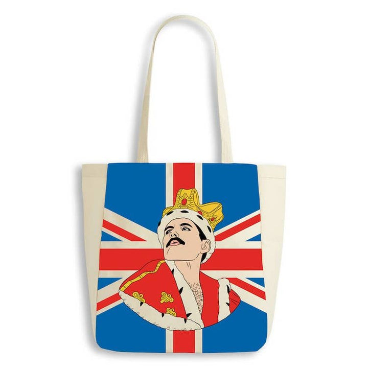 Freddie Mercury  Union Jack tote bag