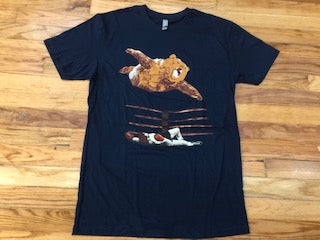 Bear attacking boxer T-shirts