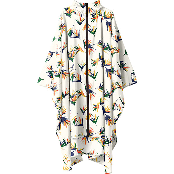 Tropical rain poncho