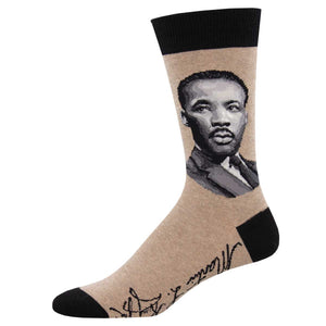 MLK portrait socks