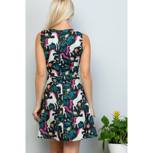 Unicorn print dress