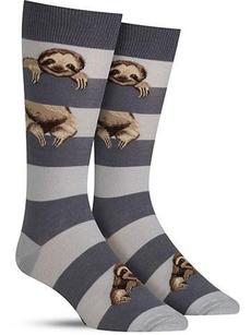 Stripe sloth socks