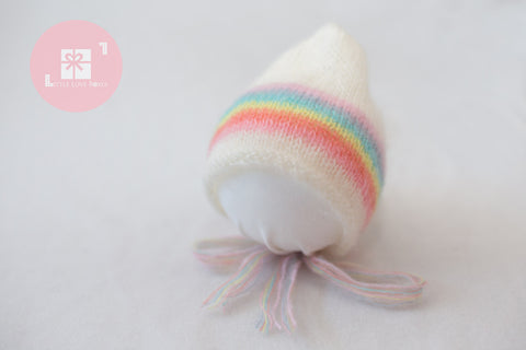 1020 Rainbow Bonnets (newborn) - Little Love Boxes