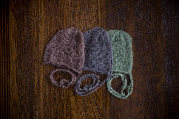 1017 Classic Knit Bonnets (newborn) - Little Love Boxes