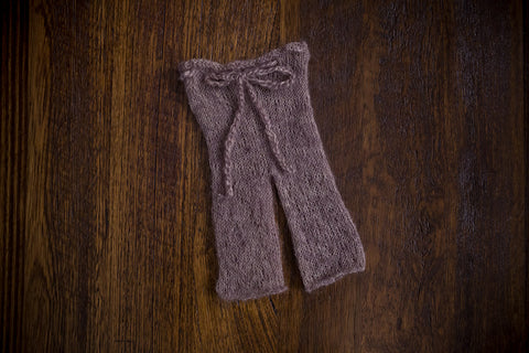 1014a Classic Knit Long Pants Taupe (newborn) - Little Love Boxes