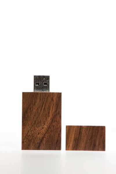0002 Rectangle Wooden USB (Dark) - Little Love Boxes