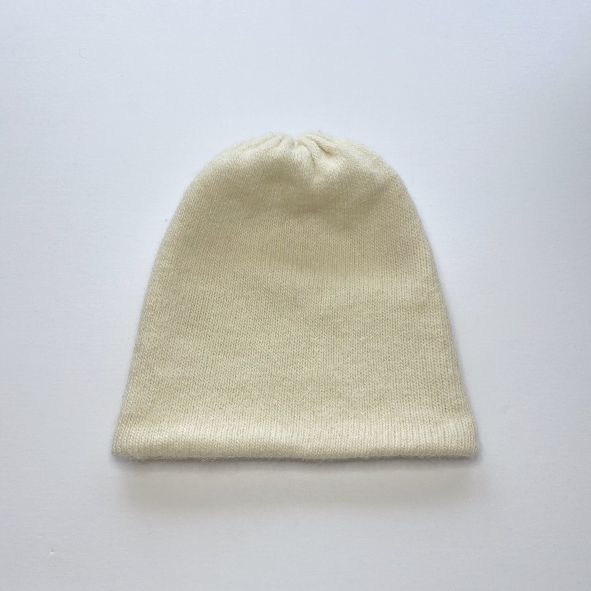 Knit Wool Beanie - Cream