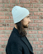 Load image into Gallery viewer, Knit Cashmere, Silk & Wool Beanie - Silver
