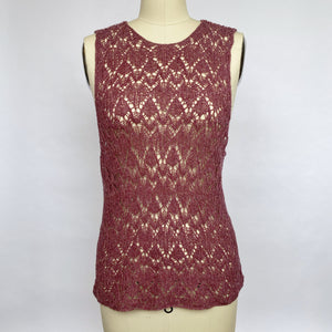 Knit Silk Lace Top