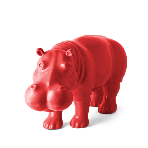 TheWildWild Deco Glossy Hippo, Red